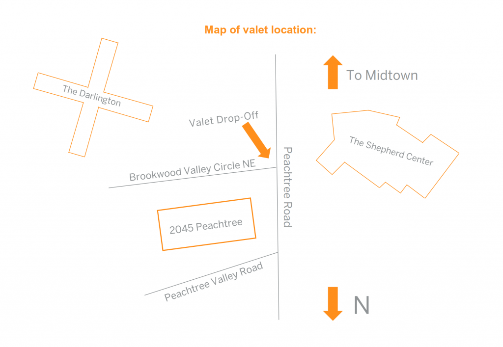 map of valet location